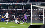 DERBY, ENGLAND - JANUARY 05: Nathan Redmond(L) of Southampton opens the scoring during the FA Cup Third Round match between Derby County and Southampton FC at Pride Park on January 05, 2019 in Derby, United Kingdom. (Photo by Matt Watson/Southampton FC via Getty Images)