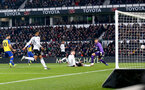 DERBY, ENGLAND - JANUARY 05: Nathan Redmond of Southampton opens the scoring during the FA Cup Third Round match between Derby County and Southampton FC at Pride Park on January 05, 2019 in Derby, United Kingdom. (Photo by Matt Watson/Southampton FC via Getty Images)