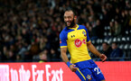 DERBY, ENGLAND - JANUARY 05: Nathan Redmond of Southampton celebrates during the FA Cup Third Round match between Derby County and Southampton FC at Pride Park on January 05, 2019 in Derby, United Kingdom. (Photo by Matt Watson/Southampton FC via Getty Images)