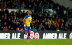DERBY, ENGLAND - JANUARY 05: Tyreke Johnson of Southampton during the FA Cup Third Round match between Derby County and Southampton FC at Pride Park on January 05, 2019 in Derby, United Kingdom. (Photo by Matt Watson/Southampton FC via Getty Images)