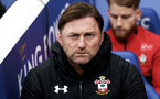 LEICESTER, ENGLAND - JANUARY 12: Ralph Hasenhuttl during the Premier League match between Leicester City and Southampton FC at The King Power Stadium on January 12, 2019 in Leicester, United Kingdom. (Photo by Matt Watson/Southampton FC via Getty Images)