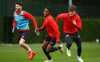 SOUTHAMPTON, ENGLAND - JANUARY 15: LtoR Kayne Ramsay, Sam Gallagher during a Southampton FC  training session at Staplewood Complex on January 15, 2019 in Southampton, England. (Photo by James Bridle - Southampton FC/Southampton FC via Getty Images)