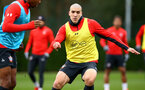SOUTHAMPTON, ENGLAND - JANUARY 15: Pierre-Emile Hojbjerg during a Southampton FC  training session at Staplewood Complex on January 15, 2019 in Southampton, England. (Photo by James Bridle - Southampton FC/Southampton FC via Getty Images)