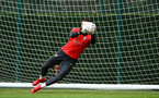 SOUTHAMPTON, ENGLAND - JANUARY 15: Alex McCarthy saves the ball during a Southampton FC  training session at Staplewood Complex on January 15, 2019 in Southampton, England. (Photo by James Bridle - Southampton FC/Southampton FC via Getty Images)