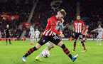 SOUTHAMPTON, ENGLAND - JANUARY 16: Callum Slattery during the FA Cup Third Round Replay match between Southampton FC and Derby County at St Mary's Stadium on January 16, 2019 in Southampton, United Kingdom. (Photo by Chris Moorhouse Southampton FC/Southampton FC via Getty Images)