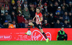 SOUTHAMPTON, ENGLAND - JANUARY 16: Cedric Soares (middle) during the FA Cup Third Round Replay match between Southampton FC and Derby County at St Mary's Stadium on January 16, 2019 in Southampton, United Kingdom. (Photo by James Bridle - Southampton FC/Southampton FC via Getty Images)