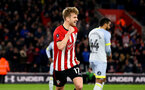 SOUTHAMPTON, ENGLAND - JANUARY 16: Stuart Armstrong scores for Southampton FC during the FA Cup Third Round Replay match between Southampton FC and Derby County at St Mary's Stadium on January 16, 2019 in Southampton, United Kingdom. (Photo by James Bridle - Southampton FC/Southampton FC via Getty Images)