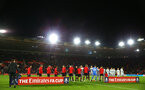 SOUTHAMPTON, ENGLAND - JANUARY 16: Both teams ahead of kick off for the FA Cup Third Round Replay match between Southampton FC and Derby County at St Mary's Stadium on January 16, 2019 in Southampton, United Kingdom. (Photo by James Bridle - Southampton FC/Southampton FC via Getty Images)