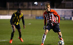 LONDON, ENGLAND - JANUARY 17:  Kornelius Hansen (right) during a  FA Youth Cup match between Watford FC and Southampton FC on January 17, 2019 in Watford, United Kingdom. (Photo by James Bridle - Southampton FC/Southampton FC via Getty Images)
