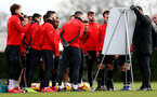 SOUTHAMPTON, ENGLAND - JANUARY 26: Players listen in to instruction from Ralph Hasenhuttl during a Southampton FC training session at the Staplewood Campus on January 26, 2019 in Southampton, England. (Photo by Matt Watson/Southampton FC via Getty Images)