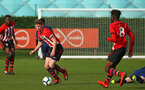SOUTHAMPTON, ENGLAND - JANUARY 26: Kameron Ledwidge (left) during the Under 18s match between Southampton FC and Fulham FC pictured at Staplewood Complex on January 26, 2019 in Southampton, England. (Photo by James Bridle - Southampton FC/Southampton FC via Getty Images)