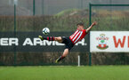 SOUTHAMPTON, ENGLAND - JANUARY 26: Sean Keogh (Middle) during the Under 18s match between Southampton FC and Fulham FC pictured at Staplewood Complex on January 26, 2019 in Southampton, England. (Photo by James Bridle - Southampton FC/Southampton FC via Getty Images)
