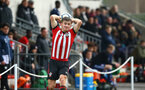 SOUTHAMPTON, ENGLAND - JANUARY 26: Sean Keogh makes a throw in during the Under 18s match between Southampton FC and Fulham FC pictured at Staplewood Complex on January 26, 2019 in Southampton, England. (Photo by James Bridle - Southampton FC/Southampton FC via Getty Images)