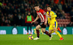 SOUTHAMPTON, ENGLAND - JANUARY 30: Pierre-Emile Hojbjerg(L) of Southampton and James McArthur of Crystal Palace during the Premier League match between Southampton FC and Crystal Palace at St Mary's Stadium on January 30, 2019 in Southampton, United Kingdom. (Photo by Matt Watson/Southampton FC via Getty Images)