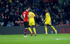 SOUTHAMPTON, ENGLAND - JANUARY 30: Wilfried Zaha of Crystal Palace celebrates after opening the scoring during the Premier League match between Southampton FC and Crystal Palace at St Mary's Stadium on January 30, 2019 in Southampton, United Kingdom. (Photo by Matt Watson/Southampton FC via Getty Images)