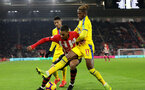 SOUTHAMPTON, ENGLAND - JANUARY 30: Yan Valery during the Premier League match between Southampton FC and Crystal Palace FC at St Mary's Stadium on January 30, 2019 in Southampton, United Kingdom. (Photo by Chris Moorhouse/ Southampton FC via Getty Images)