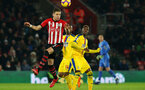 SOUTHAMPTON, ENGLAND - JANUARY 30: Jan Bednarek during the Premier League match between Southampton FC and Crystal Palace FC at St Mary's Stadium on January 30, 2019 in Southampton, United Kingdom. (Photo by Chris Moorhouse/ Southampton FC via Getty Images)