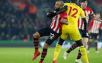 SOUTHAMPTON, ENGLAND - JANUARY 30: Nathan Redmond during the Premier League match between Southampton FC and Crystal Palace FC at St Mary's Stadium on January 30, 2019 in Southampton, United Kingdom. (Photo by Chris Moorhouse/ Southampton FC via Getty Images)