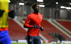 LEIGH, GREATER MANCHESTER - FEBRUARY 01:  Allan TChaptchet ahead of the PL2 match between Manchester United and Southampton FC pictured at Leigh Sports Village on February 01, 2019 in Leigh, Greater Manchester. (Photo by James Bridle - Southampton FC/Southampton FC via Getty Images)