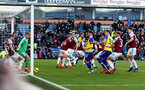 BURNLEY, ENGLAND - FEBRUARY 02: Phillip Bardsley of Burnley clears the ball off of the line during the Premier League match between Burnley FC and Southampton FC at Turf Moor on February 02, 2019 in Burnley, United Kingdom. (Photo by Matt Watson/Southampton FC via Getty Images)