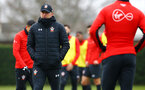 SOUTHAMPTON, ENGLAND - FEBRUARY 05: Ralph Hasenhuttl (left) during a Southampton FC  training session at Staplewood Complex on February 05, 2019 in Southampton, England. (Photo by James Bridle - Southampton FC/Southampton FC via Getty Images)