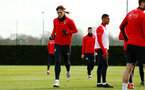 SOUTHAMPTON, ENGLAND - FEBRUARY 06: Jannik Vestergaard (left) during a Southampton FC training session at Staplewood Complex on February 06, 2019 in Southampton, England. (Photo by James Bridle - Southampton FC/Southampton FC via Getty Images)