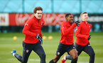 SOUTHAMPTON, ENGLAND - FEBRUARY 06: LtoR Sam Gallagher, Kayne Ramsay, Matt Target during a Southampton FC training session at Staplewood Complex on February 06, 2019 in Southampton, England. (Photo by James Bridle - Southampton FC/Southampton FC via Getty Images)