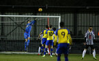 NEWCASTLE, ENGLAND - FEBRUARY 08: Jack Rose (left) makes a save during a PLCUP match between Southampton FC and Newcastle United pictured at Northumberland County FA on February 08, 2019 in Newcastle, England. (Photo by James Bridle - Southampton FC/Southampton FC via Getty Images)