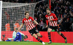 SOUTHAMPTON, ENGLAND - FEBRUARY 09: Jack Stephens's goal celebration with Sam Gallagher during the Premier League match between Southampton FC and Cardiff City at St Mary's Stadium on February 9, 2019 in Southampton, United Kingdom. (Photo by Chris Moorhouse/Southampton FC via Getty Images)