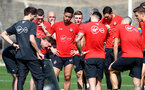 TENERIFE, SPAIN - FEBRUARY 12: Ralph Hasenhuttl gives instruction on day 2 of Southampton FC's winter training Camp, on February 12, 2019 in Tenerife, Spain. (Photo by Matt Watson/Southampton FC via Getty Images)