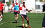 TENERIFE, SPAIN - FEBRUARY 13: Kayne Ramsay on day 3 of Southampton FC's winter training camp on February 13, 2019 in Tenerife, Spain. (Photo by Matt Watson/Southampton FC via Getty Images)