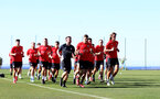 TENERIFE, SPAIN - FEBRUARY 13: Players run on day 3 of Southampton FC's winter training camp on February 13, 2019 in Tenerife, Spain. (Photo by Matt Watson/Southampton FC via Getty Images)