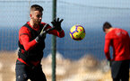 TENERIFE, SPAIN - FEBRUARY 13: Angus Gunn on day 3 of Southampton FC's winter training camp on February 13, 2019 in Tenerife, Spain. (Photo by Matt Watson/Southampton FC via Getty Images)