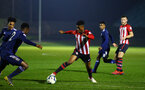 SOUTHAMPTON, ENGLAND - FEBRUARY 15: Nathan Tella (Middle) during the U23s PL2 match between Southampton FC and Fulham FC pictured at Staplewood Complex on February 15, 2019 in Southampton, England. (Photo by James Bridle - Southampton FC/Southampton FC via Getty Images)