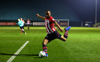 SOUTHAMPTON, ENGLAND - FEBRUARY 15: Tyreke Johnson of Southampton FC during the U23s PL2 match between Southampton FC and Fulham FC pictured at Staplewood Complex on February 15, 2019 in Southampton, England. (Photo by James Bridle - Southampton FC/Southampton FC via Getty Images)