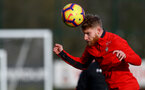 Josh Sims during a Southampton FC training session at the Staplewood Campus, Southampton, 19th February 2019
