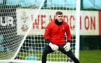 SOUTHAMPTON, ENGLAND - FEBRUARY 20: Fraser Forster during a Southampton FC training session pictured at Staplewood Complex on February 20, 2019 in Southampton, England. (Photo by James Bridle - Southampton FC/Southampton FC via Getty Images)