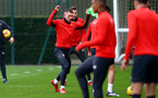 SOUTHAMPTON, ENGLAND - FEBRUARY 22: Pierre-Emile Hojbjerg during a Southampton FC training session at the Staplewood Campus on February 22, 2019 in Southampton, England. (Photo by Matt Watson/Southampton FC via Getty Images)