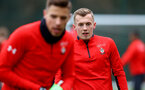 SOUTHAMPTON, ENGLAND - FEBRUARY 22: James Ward-Prowse during a Southampton FC training session at the Staplewood Campus on February 22, 2019 in Southampton, England. (Photo by Matt Watson/Southampton FC via Getty Images)