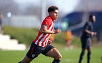 SOUTHAMPTON, ENGLAND - FEBRUARY 23:  Christian Norton during the U18's premier league match between Southampton FC and Arsenal FC pictured in Southampton, England. (Photo by James Bridle - Southampton FC/Southampton FC via Getty Images)