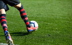 SOUTHAMPTON, ENGLAND - FEBRUARY 23:  Saints Socks during the U18's premier league match between Southampton FC and Arsenal FC pictured in Southampton, England. (Photo by James Bridle - Southampton FC/Southampton FC via Getty Images)