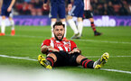 SOUTHAMPTON, ENGLAND - FEBRUARY 27: Charlie Austin of Southampton during the Premier League match between Southampton FC and Fulham FC at St Mary's Stadium on February 27, 2019 in Southampton, United Kingdom. (Photo by Matt Watson/Southampton FC via Getty Images)