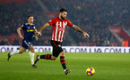 SOUTHAMPTON, ENGLAND - FEBRUARY 27:  Charlie Austin (middle) during the Premier League match between Southampton FC and Fulham FC at St Mary's Stadium on February 27, 2019 in Southampton, United Kingdom. (Photo by James Bridle - Southampton FC/Southampton FC via Getty Images)