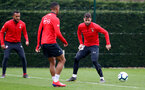 SOUTHAMPTON, ENGLAND - MARCH 01: Ryan Bertrand(L) and Charlie Austin during a Southampton FC training session at the Staplewood Campus on March 01, 2019 in Southampton, England. (Photo by Matt Watson/Southampton FC via Getty Images)