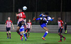 SOUTHAMPTON, ENGLAND - MARCH 01: Jonathan Afolabi  (left) during the PL2 match between Southampton FC and Reading FC pictured at Staplewood Complex on March 01, 2019 in Southampton, England. (Photo by James Bridle - Southampton FC/Southampton FC via Getty Images)