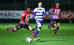 SOUTHAMPTON, ENGLAND - MARCH 01: Nathan Tella (left) during the PL2 match between Southampton FC and Reading FC pictured at Staplewood Complex on March 01, 2019 in Southampton, England. (Photo by James Bridle - Southampton FC/Southampton FC via Getty Images)