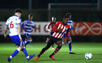 SOUTHAMPTON, ENGLAND - MARCH 01: Jonathan Afolabi  (right) during the PL2 match between Southampton FC and Reading FC pictured at Staplewood Complex on March 01, 2019 in Southampton, England. (Photo by James Bridle - Southampton FC/Southampton FC via Getty Images)