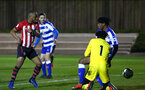 SOUTHAMPTON, ENGLAND - MARCH 01: Tyreke Johnson of Southampton FC scores (left) during the PL2 match between Southampton FC and Reading FC pictured at Staplewood Complex on March 01, 2019 in Southampton, England. (Photo by James Bridle - Southampton FC/Southampton FC via Getty Images)