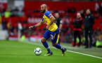 MANCHESTER, ENGLAND - MARCH 02: Nathan Redmond of Southampton during the Premier League match between Manchester United and Southampton FC at Old Trafford on March 02, 2019 in Manchester, United Kingdom. (Photo by Matt Watson/Southampton FC via Getty Images)