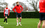 SOUTHAMPTON, ENGLAND - MARCH 03: Stuart Armstrong during a Southampton FC training session at the Staplewood Campus on March 03, 2019 in Southampton, England. (Photo by Matt Watson/Southampton FC via Getty Images)